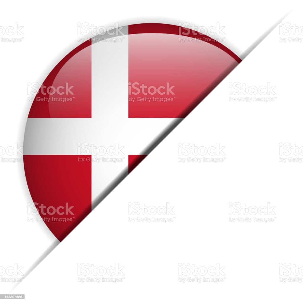 Denmark Flag Glossy Button Hidden royalty-free stock vector art