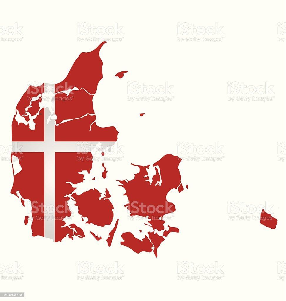 Denmark Flag vector art illustration