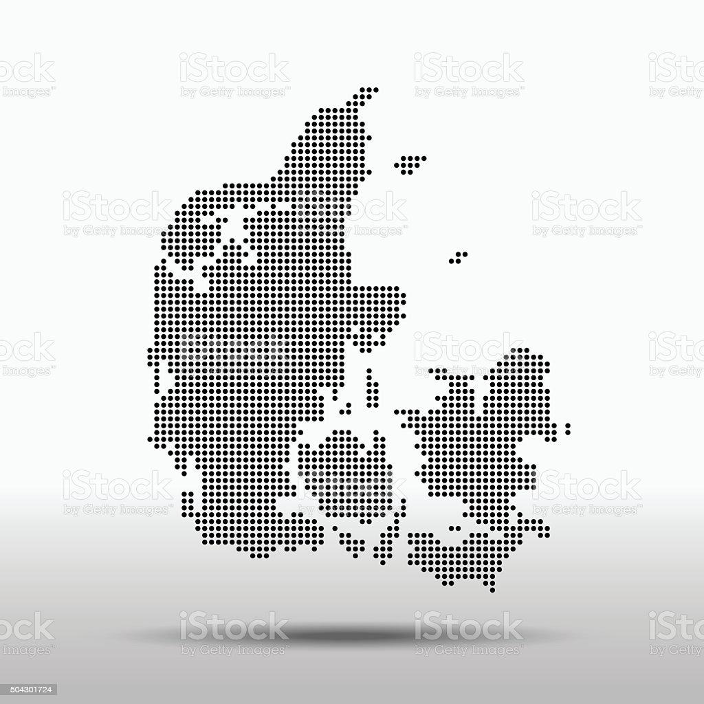 Denmark Map vector art illustration