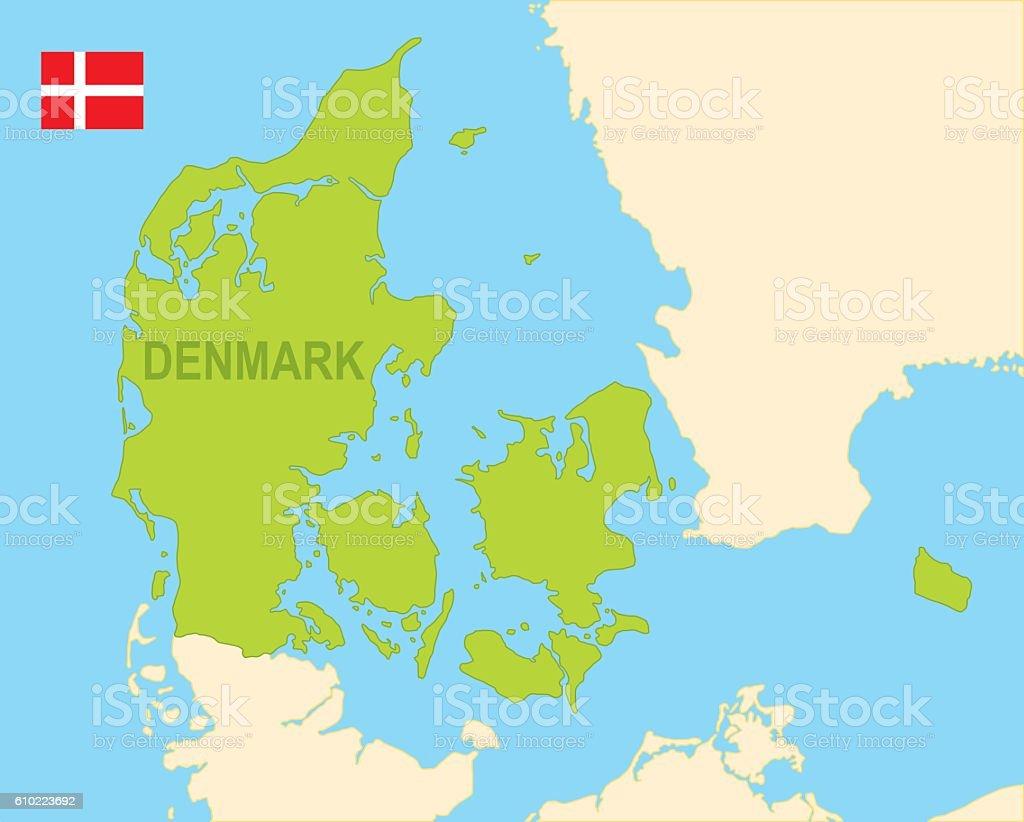 Denmark vector art illustration