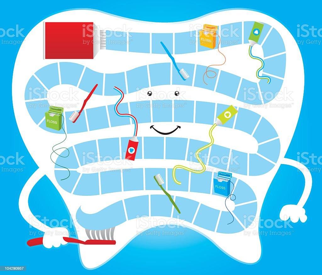 Dental board game vector art illustration