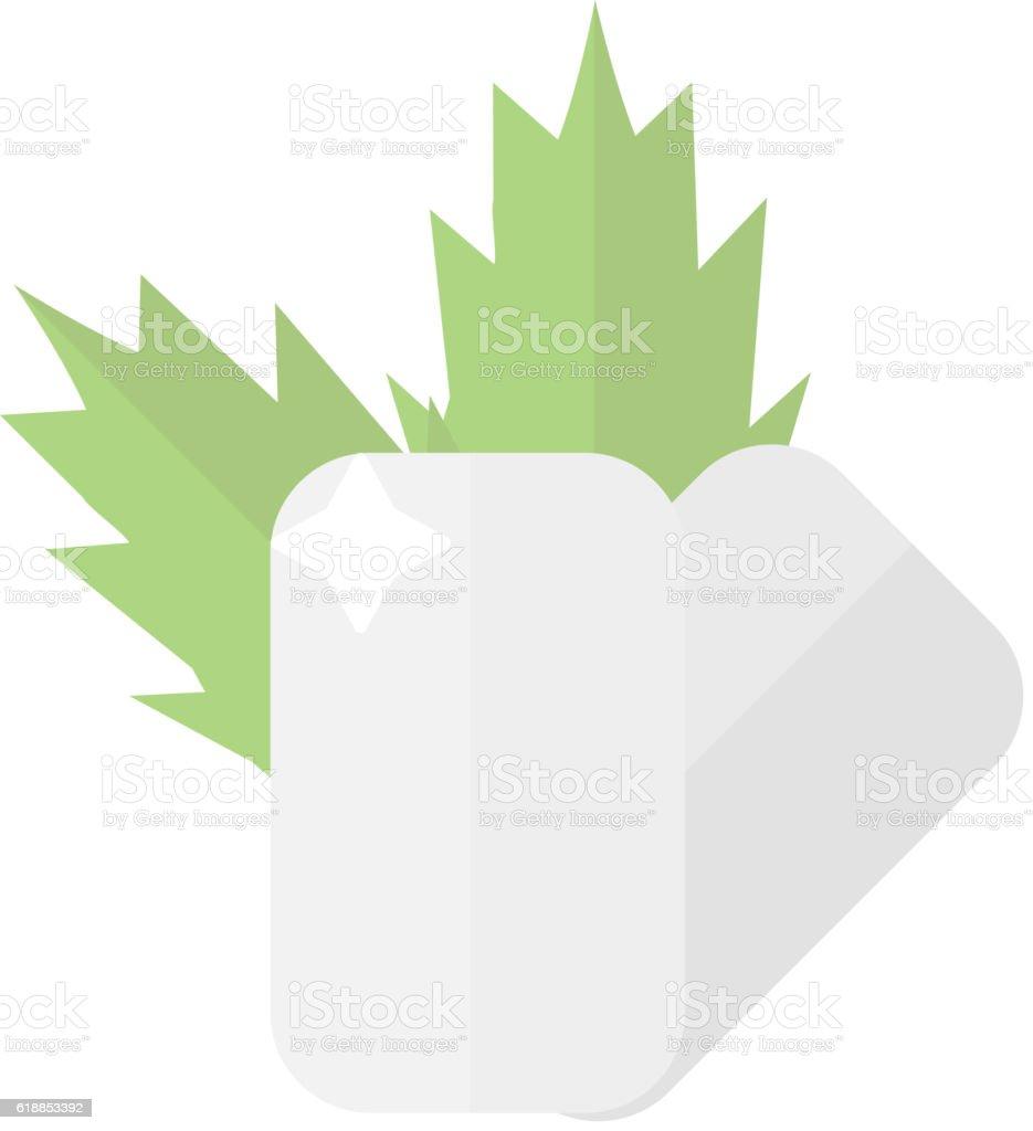 Dental care symbols vector art illustration