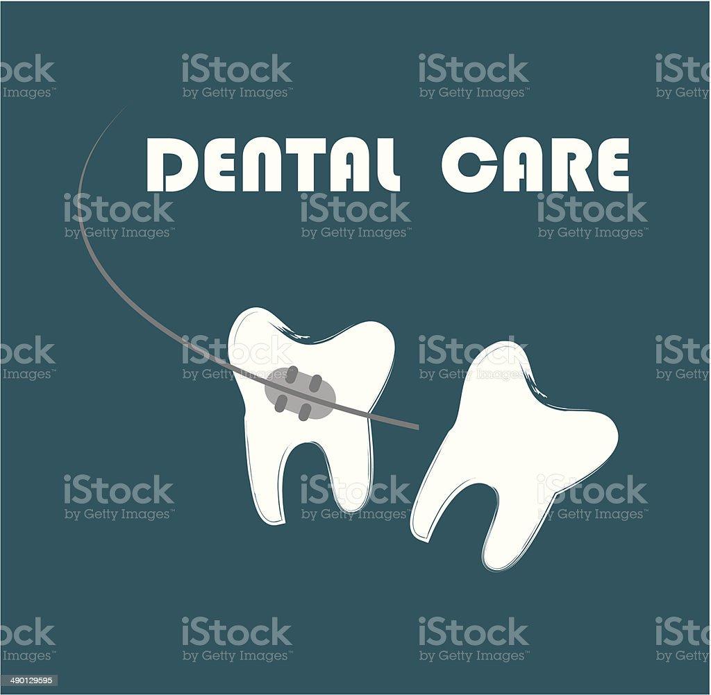 dental care vector art illustration