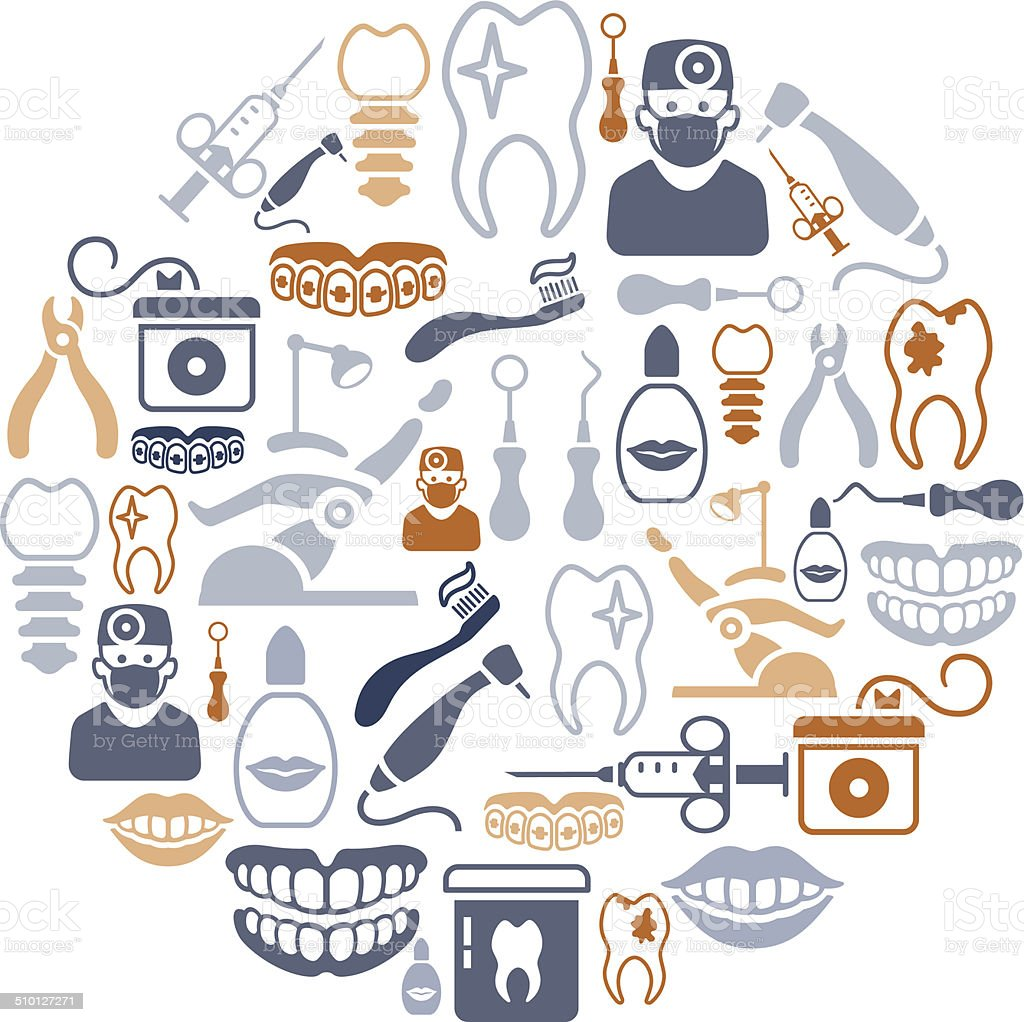 Dental Collage vector art illustration