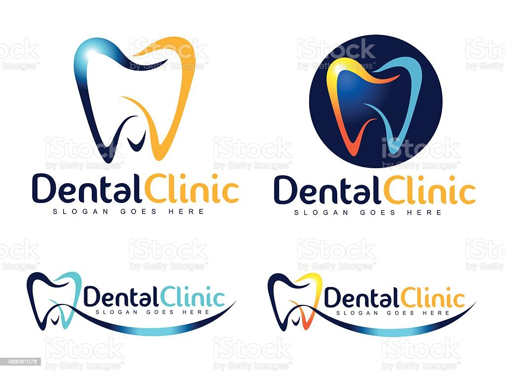 Dental Dentist Logo vector art illustration