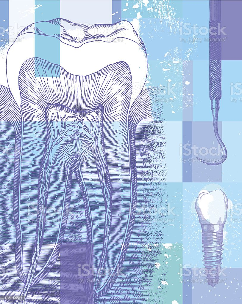 Dental Design vector art illustration