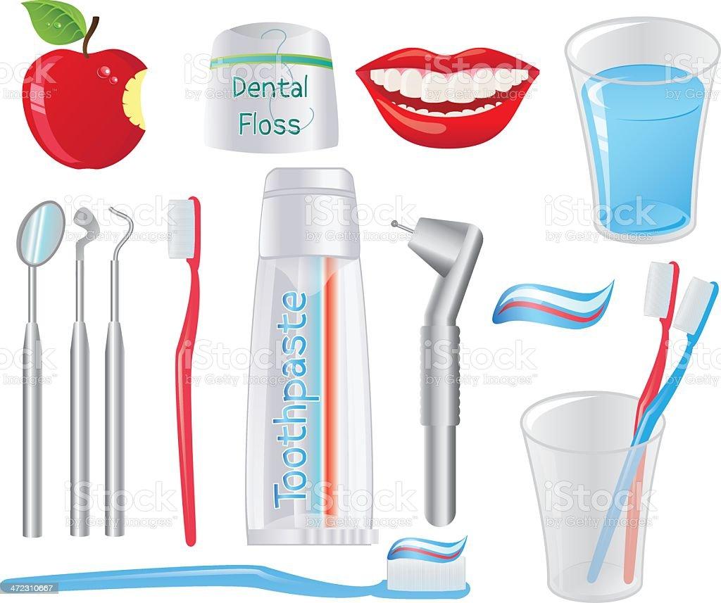 Dental Equiptment royalty-free stock vector art