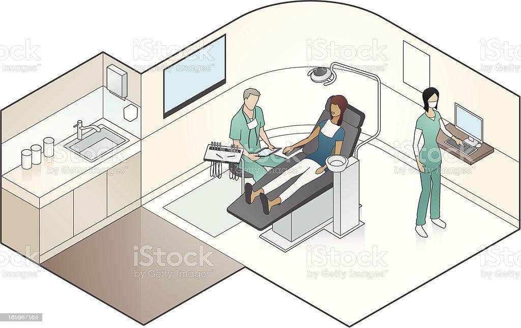 Dental Examination Illustration vector art illustration