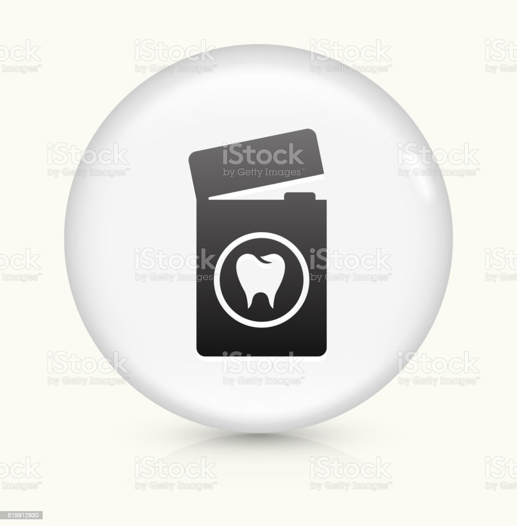 Dental Floss icon on white round vector button vector art illustration