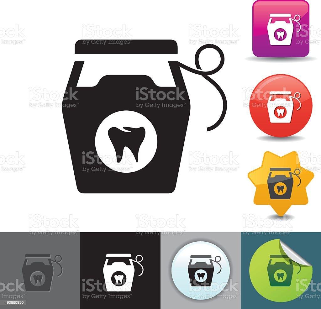 Dental floss icon | solicosi series vector art illustration