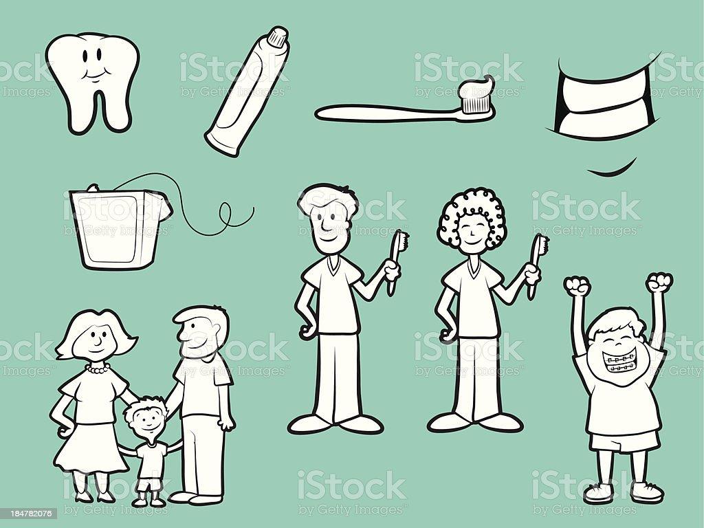 Dental Health Icons royalty-free stock vector art