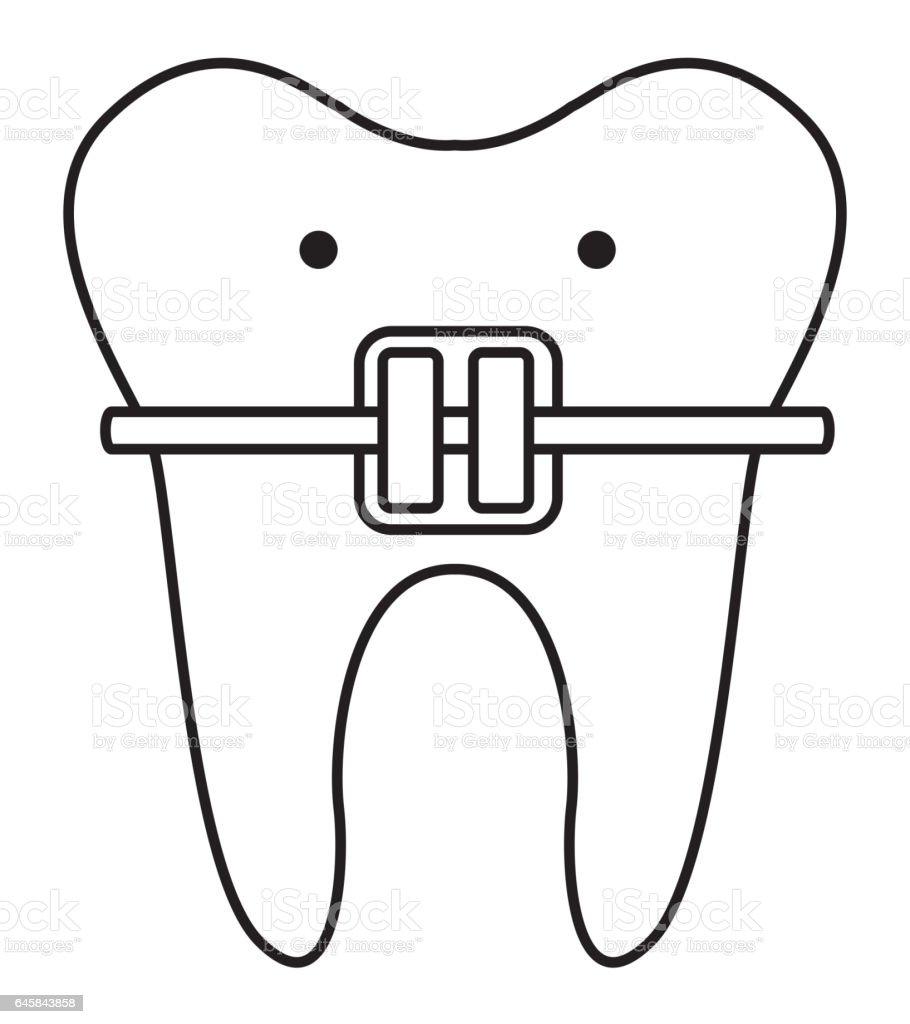 dental healthcare isolated icon vector art illustration