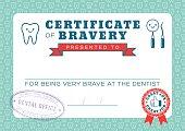 Dental Hygiene Certificate of Bravery healthy teeth