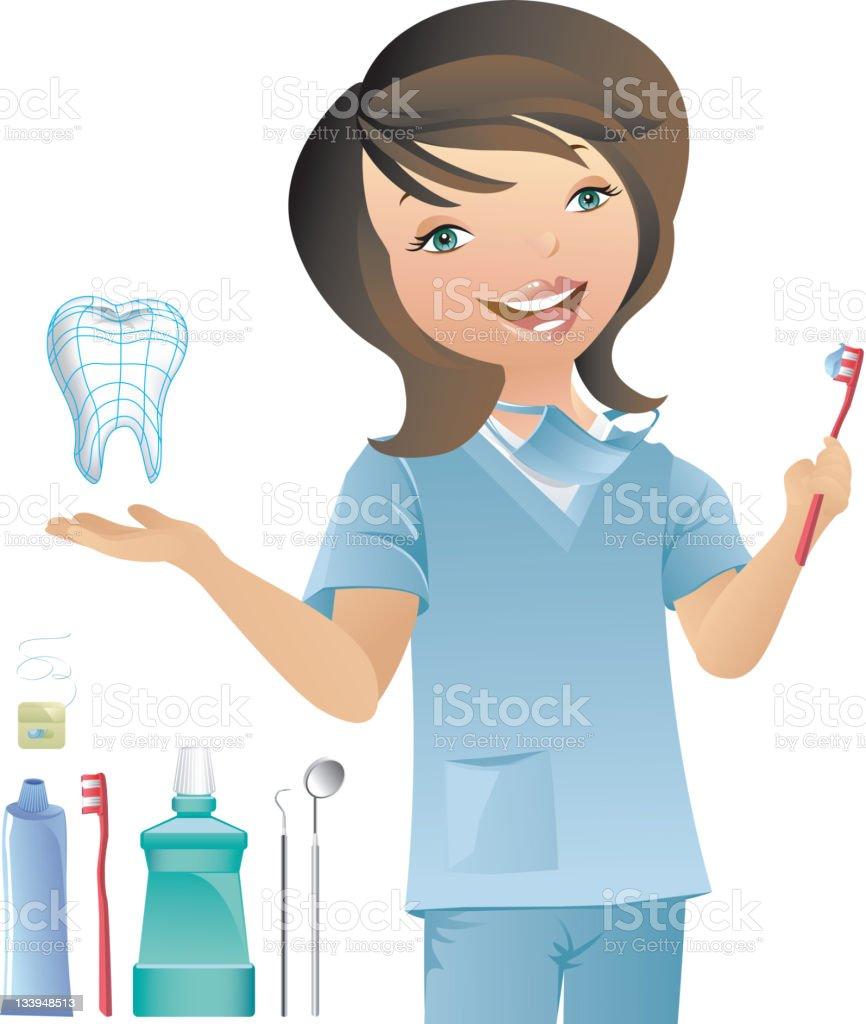 Dental Hygienist royalty-free stock vector art