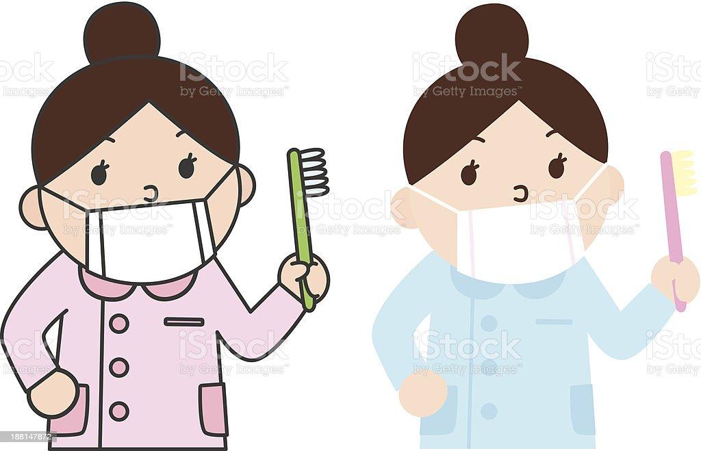 Dental hygienist??????? royalty-free stock vector art