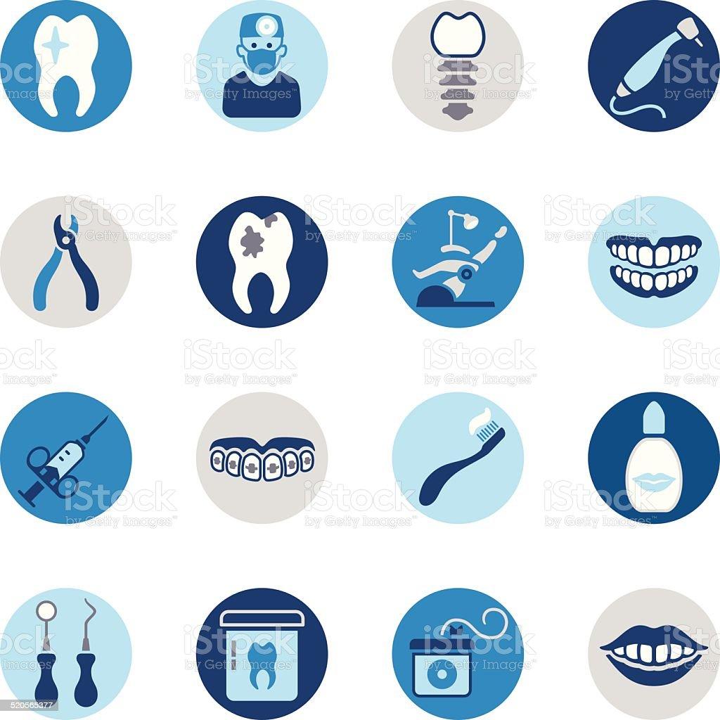Dental Icon Set vector art illustration