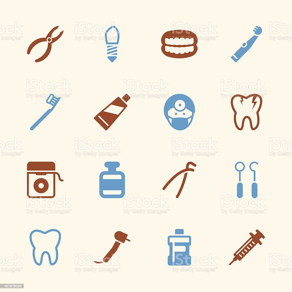 Dental Icons - Color Series | EPS10 royalty-free stock vector art