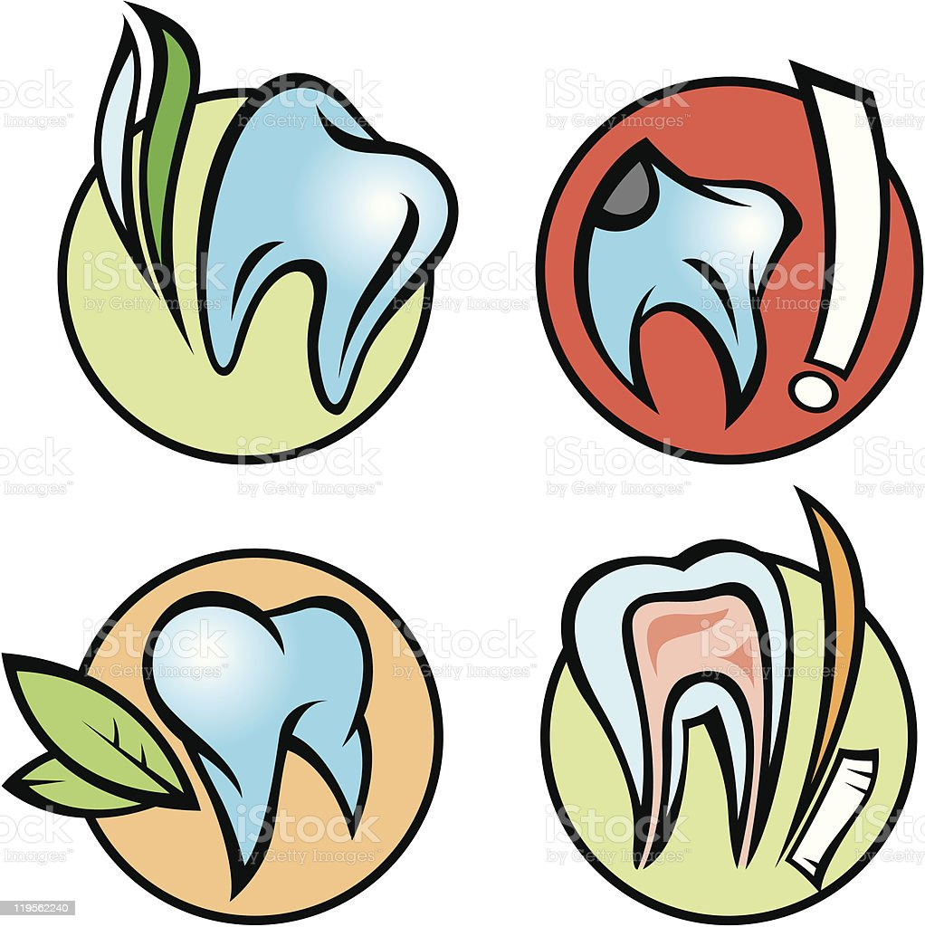 dental icons royalty-free stock vector art