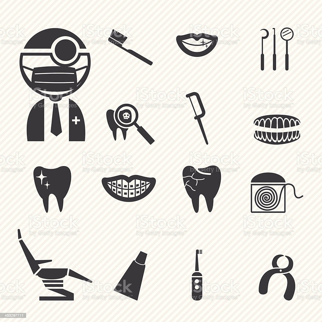 Dental Icons royalty-free stock vector art