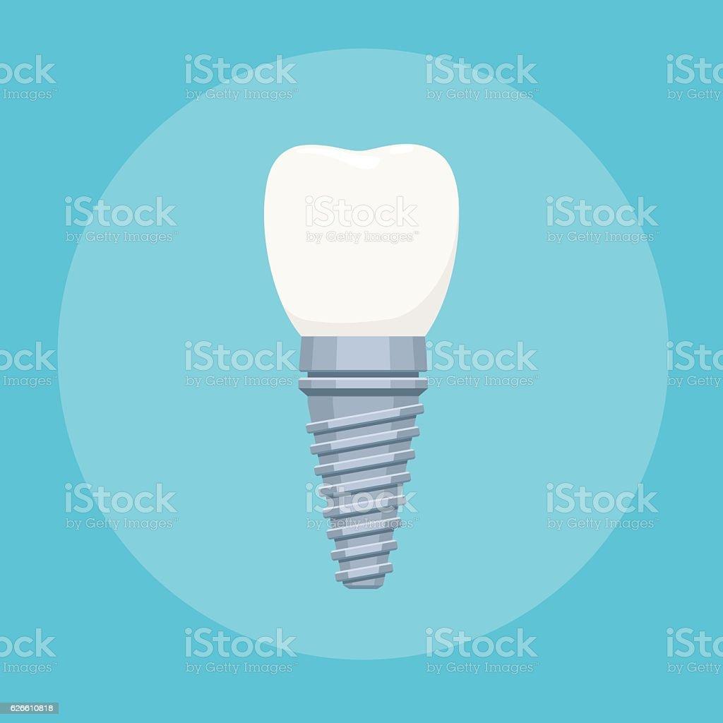 Dental implant sign vector art illustration