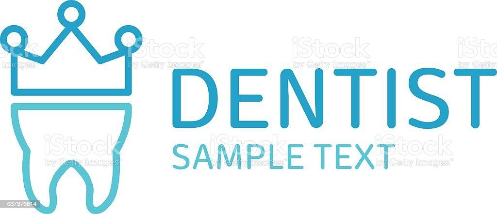 Dental logo vector. vector art illustration