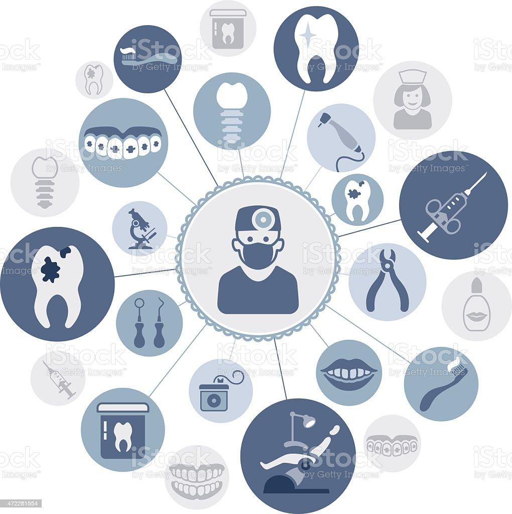 Dental Montage vector art illustration