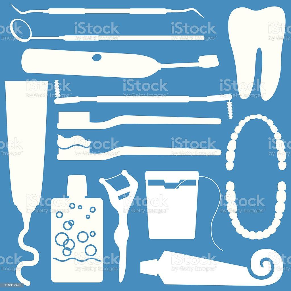 Dental Objects royalty-free stock vector art