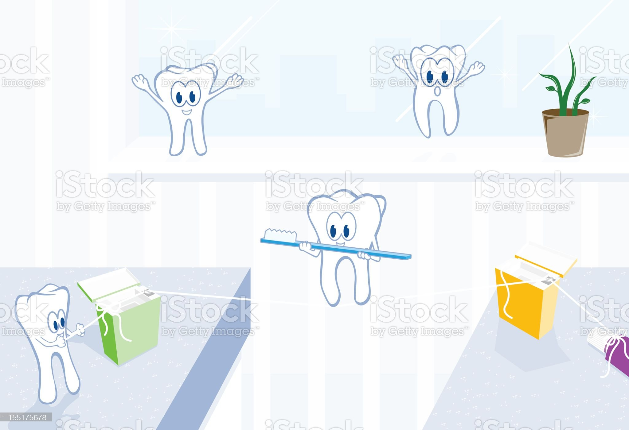 Dental Office Antics royalty-free stock vector art