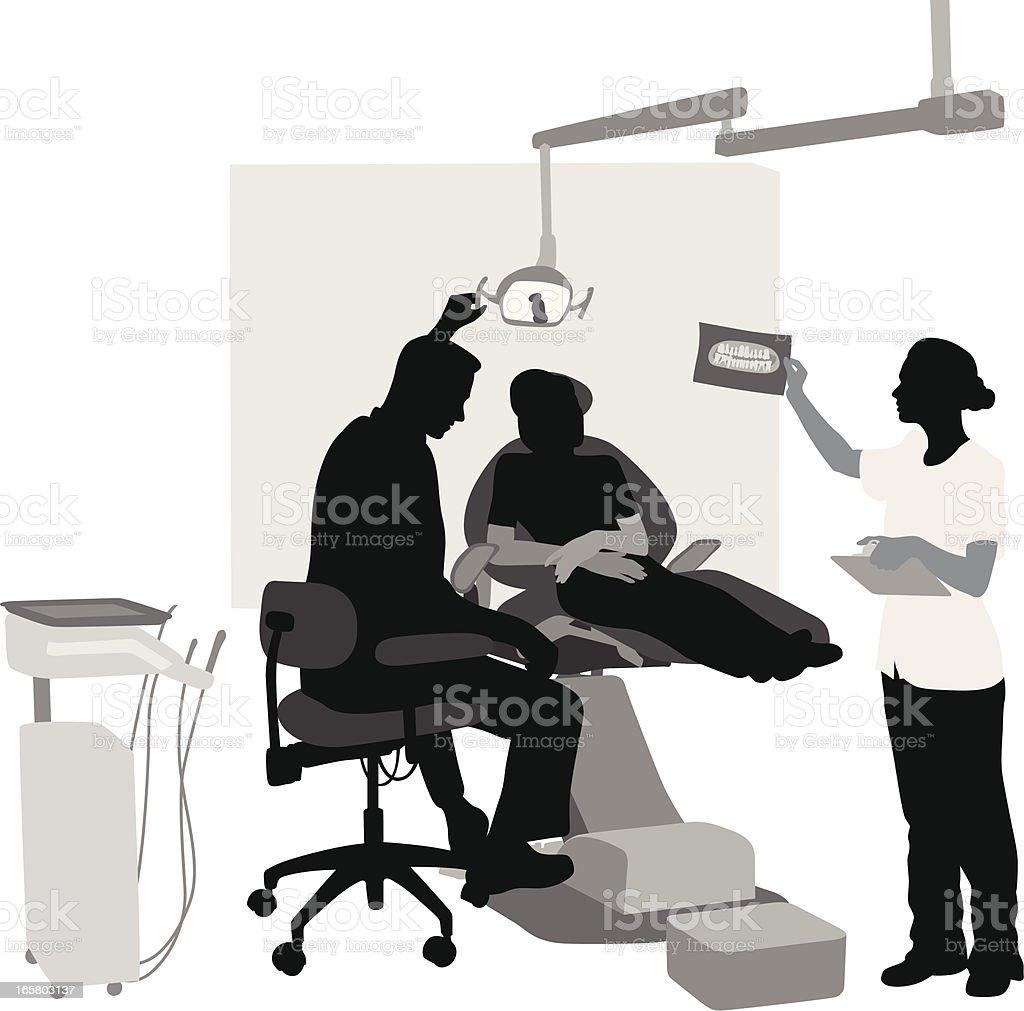 Dental Office Vector Silhouette vector art illustration