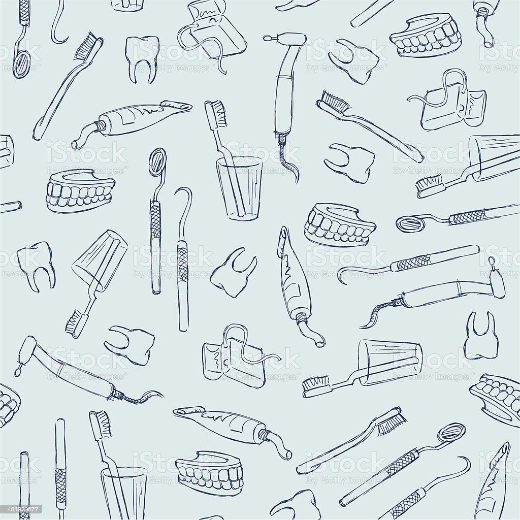 Dental Seamless vector art illustration