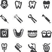 Dental Silhouette Icons | EPS10