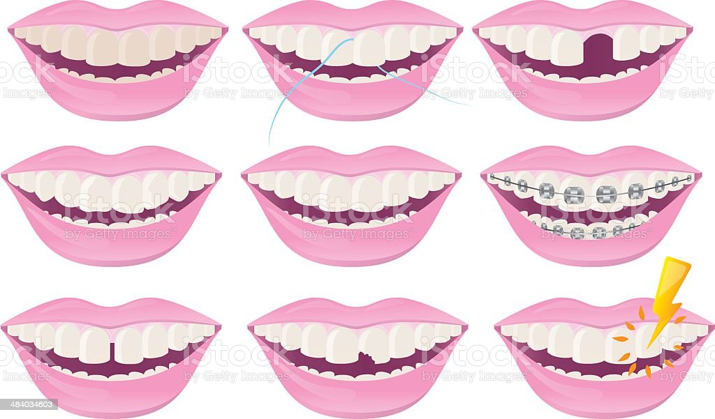 Dental Teeth royalty-free stock vector art