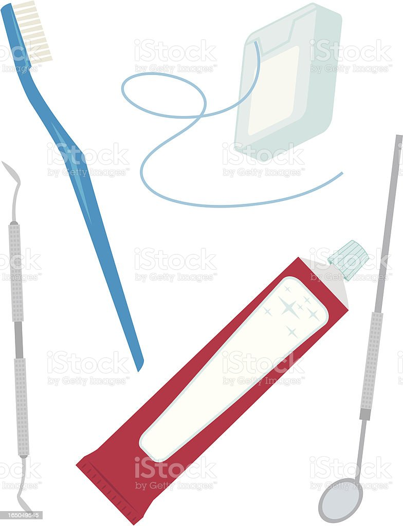 Dental Tools royalty-free stock vector art