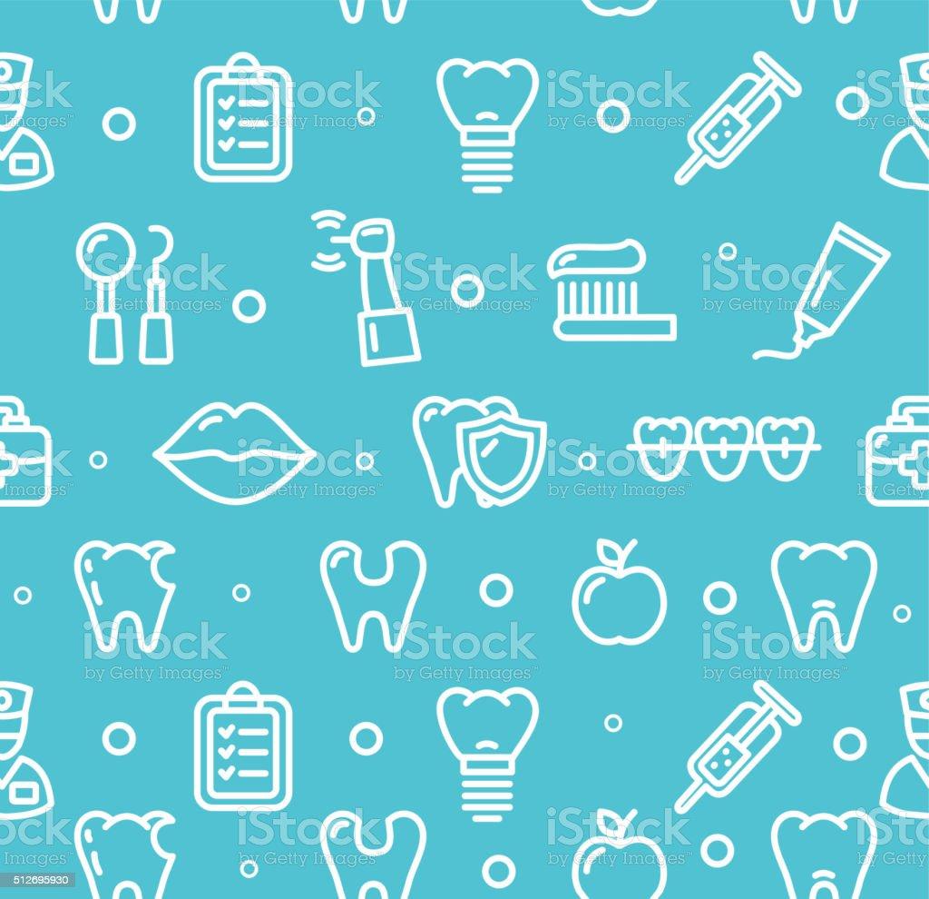 Dental Tooth Clinic Background Pattern. Vector vector art illustration