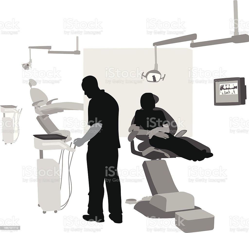 Dental Work Vector Silhouette vector art illustration