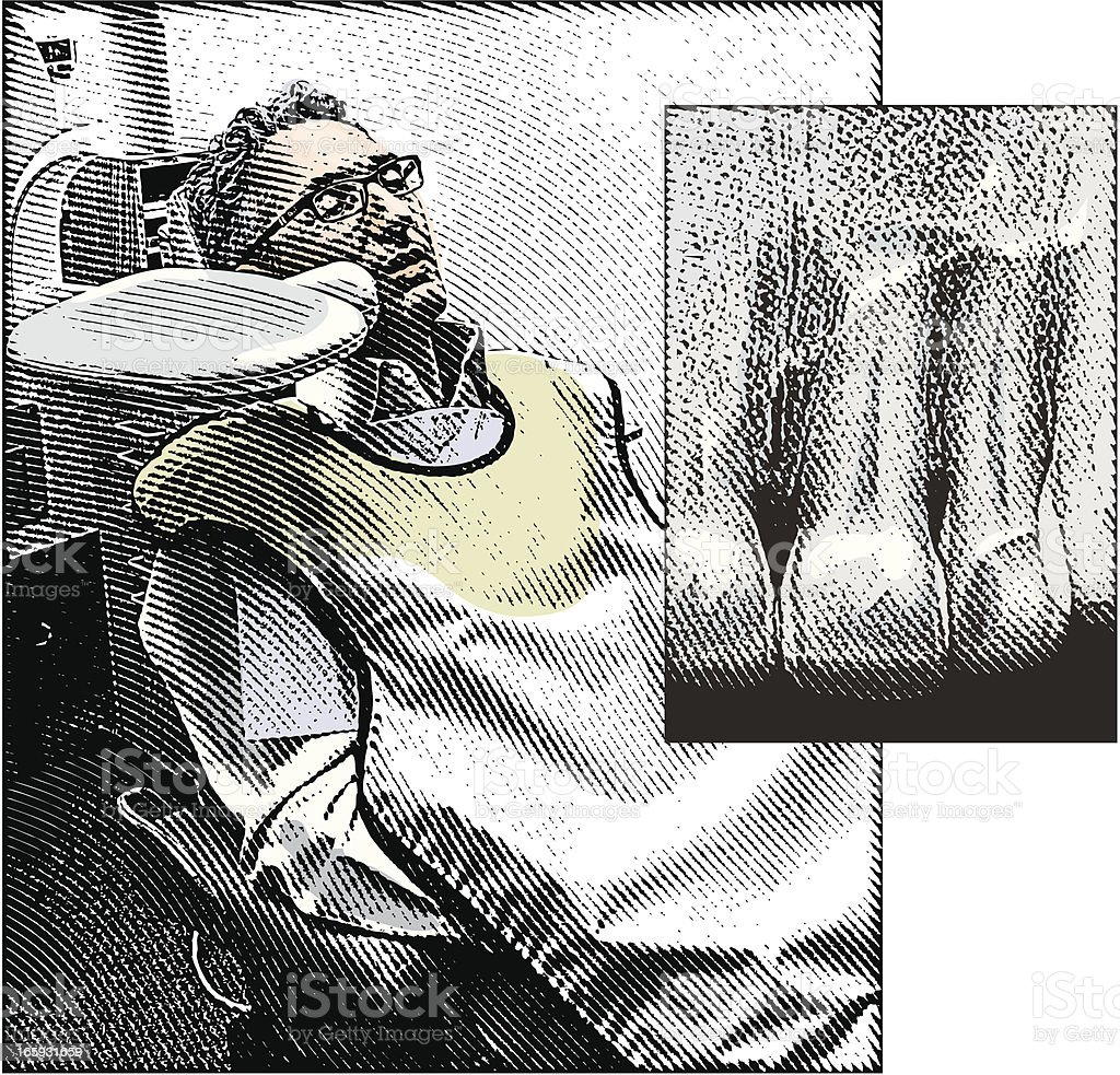 Dental X-Ray Patient royalty-free stock vector art