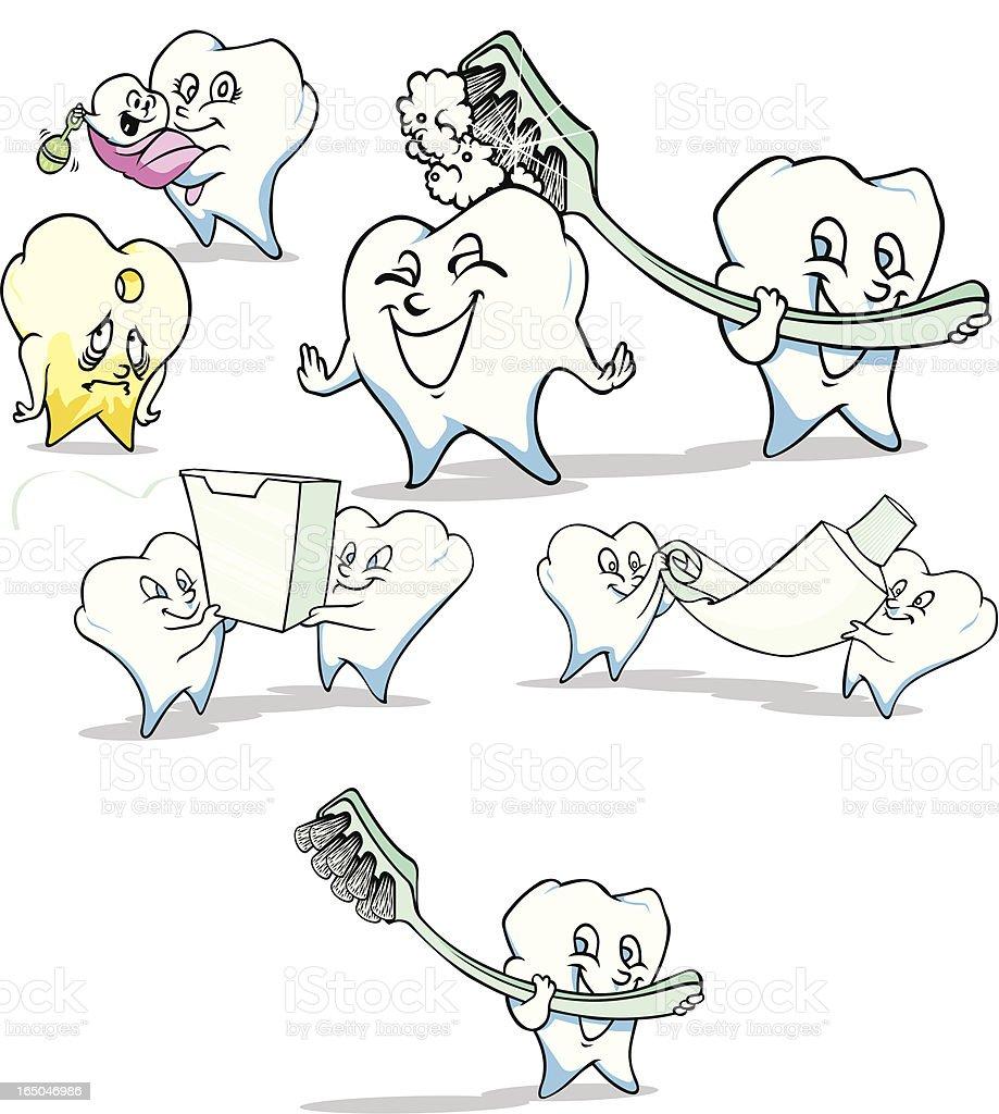 Dental/Teeth Compilation royalty-free stock vector art