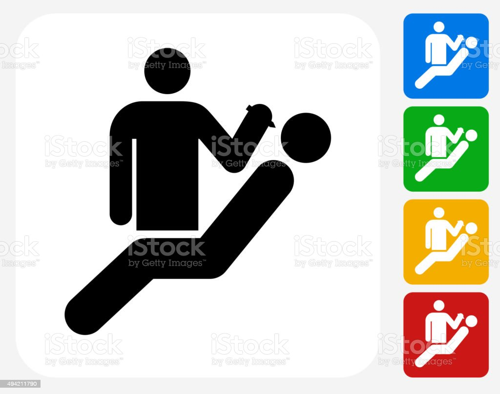 Dentist and Patient Icon Flat Graphic Design vector art illustration