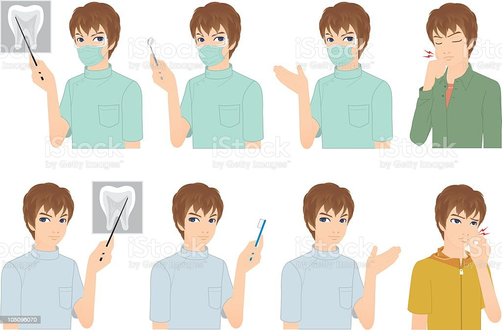 Dentist and Patient royalty-free stock vector art