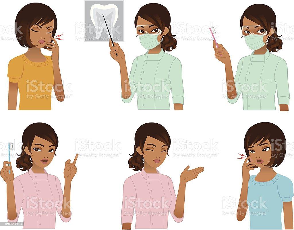 Dentist and Patient. vector art illustration