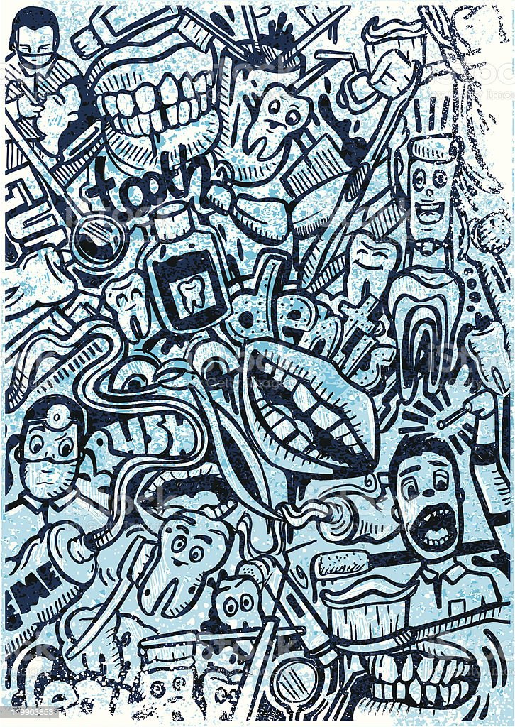 dentist doodle royalty-free stock vector art