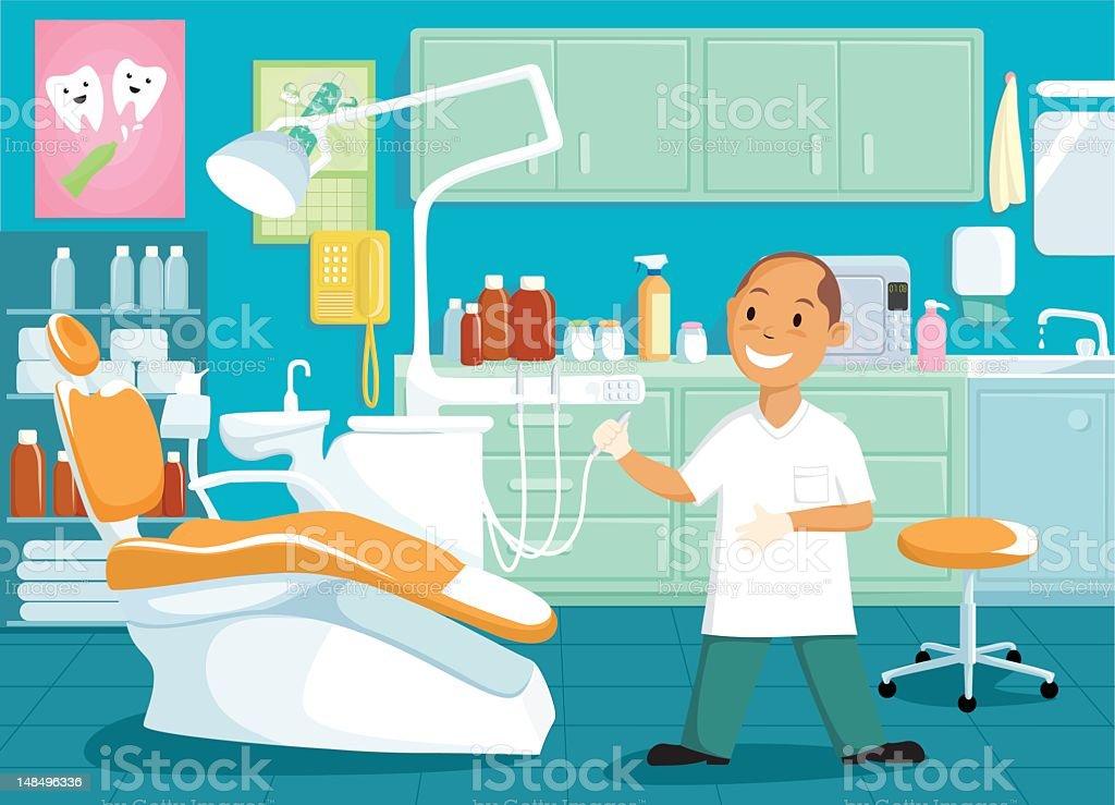 Dentist Office vector art illustration
