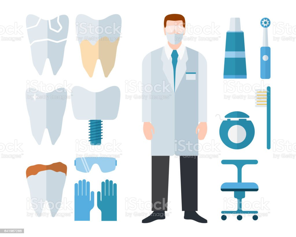 Dentist stomatology equipment vector illustration vector art illustration