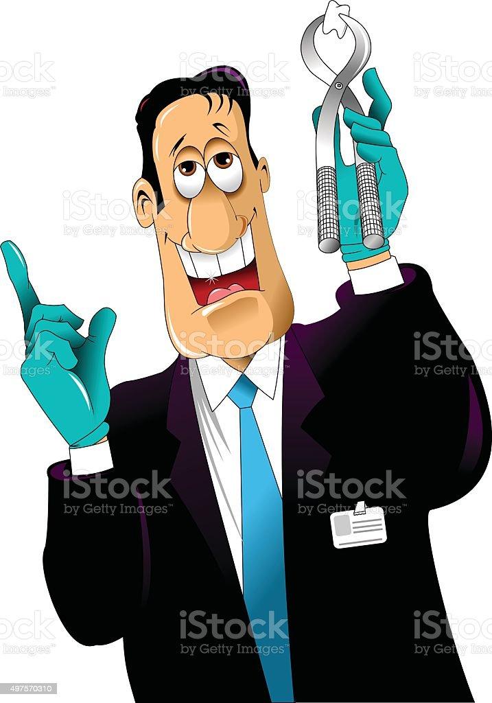 Dentist vector art illustration