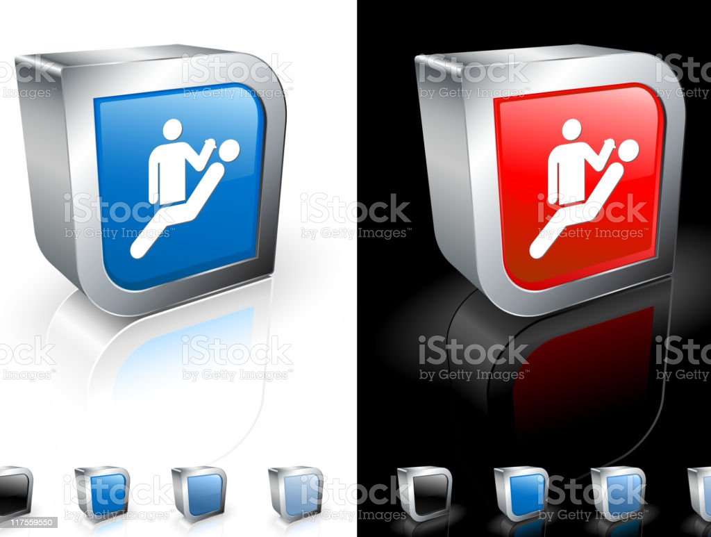 dentist with a patient 3D icon royalty-free stock vector art