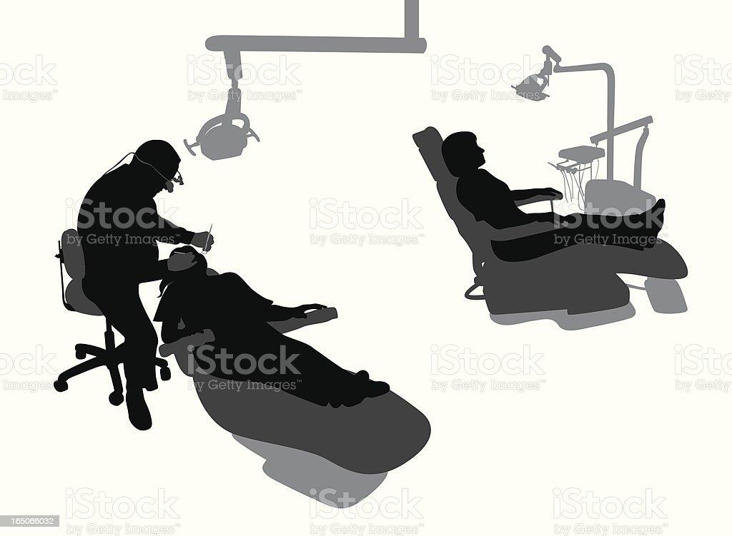 DentistAtWork vector art illustration