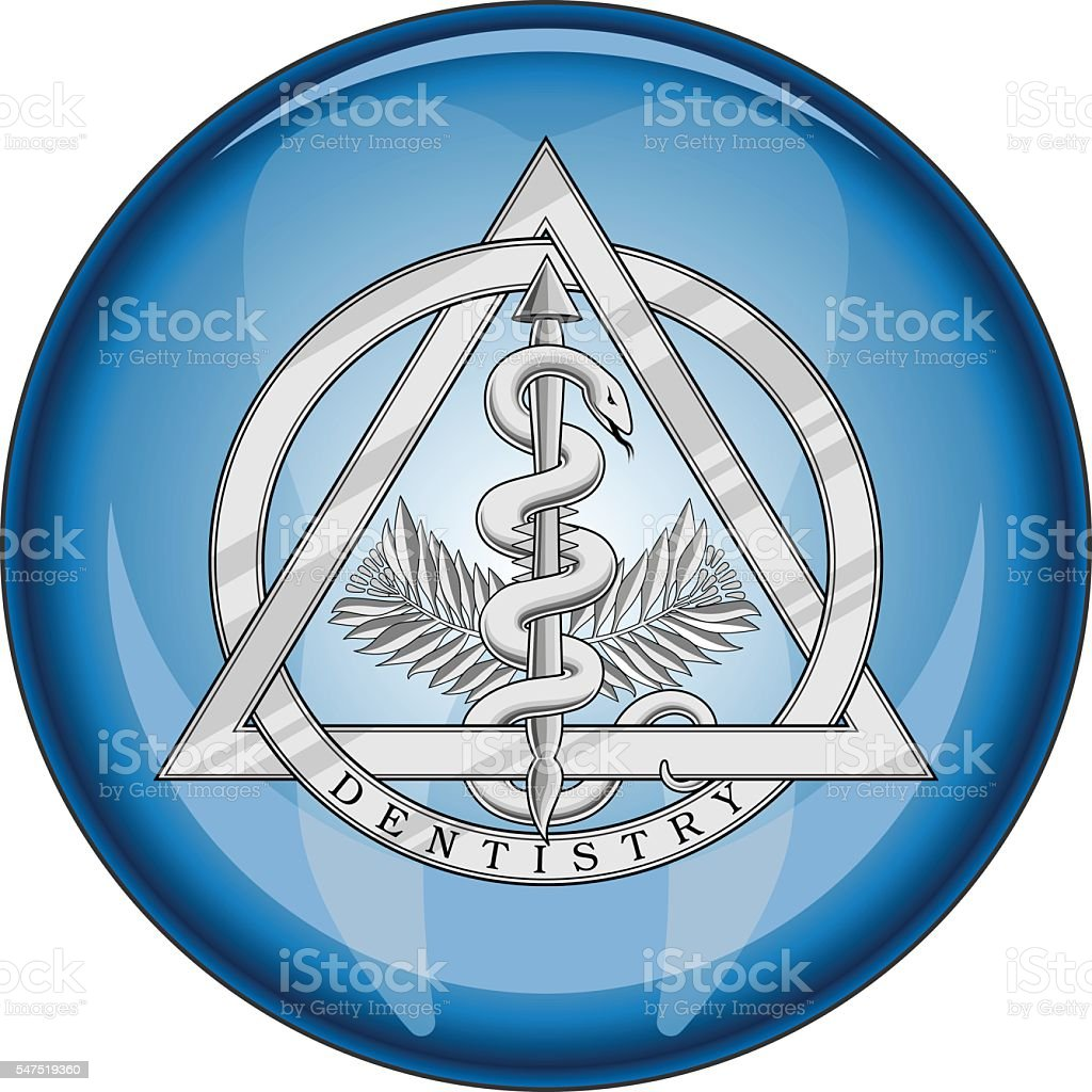 Dentistry Medical Symbol Button vector art illustration