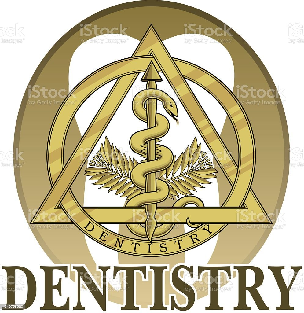 Dentistry Symbol Design vector art illustration