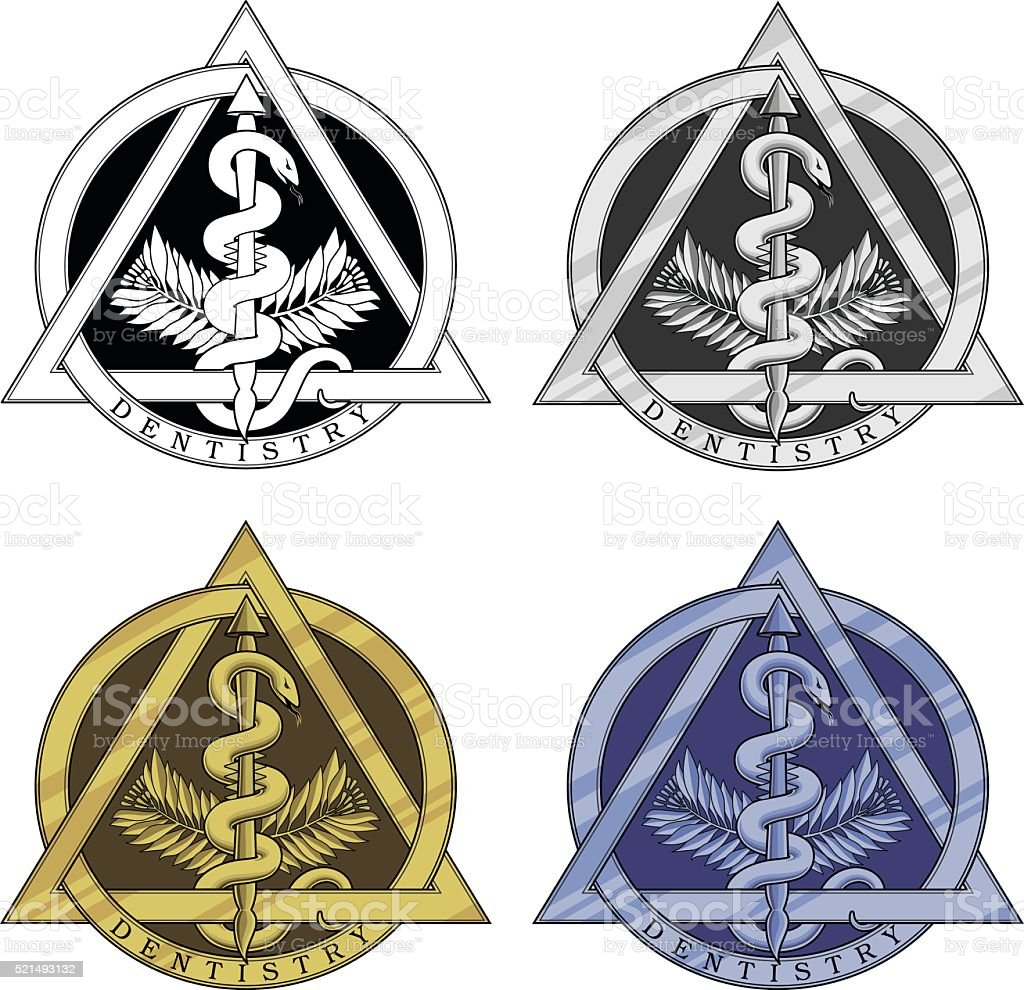 Dentistry Symbol - Four Versions vector art illustration