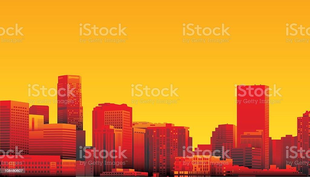 Denver, Colorado vector art illustration